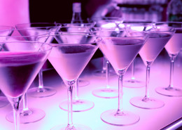 Welcome drink in a night club - bar counter